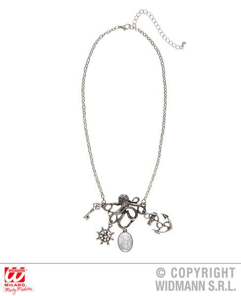 Octopus Necklace With Charms Cephalopod Sea Fish Animal Squid