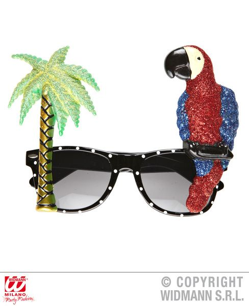 Parrot Tropical Glasses Paradise Bird Pirate Pet Polly Animal Fancy Dress