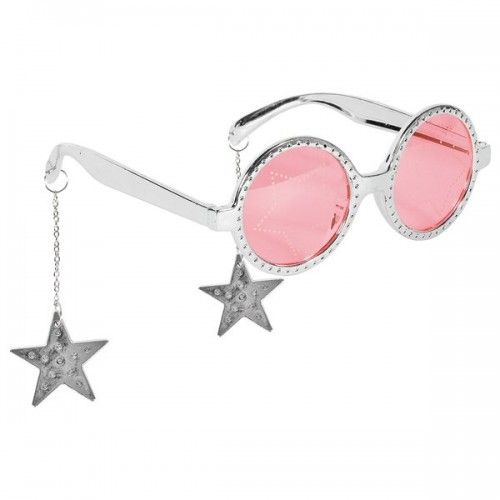 Party Glasses Stars Hanging Silver