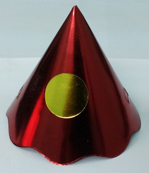 Party Hats Cone Foil Assort Plain 100's New Years Christmas Birthday Table