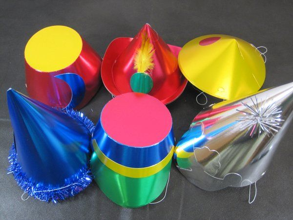 Party Hats Shaped Foil Asstd 20's Gangster Mob 20s 30s