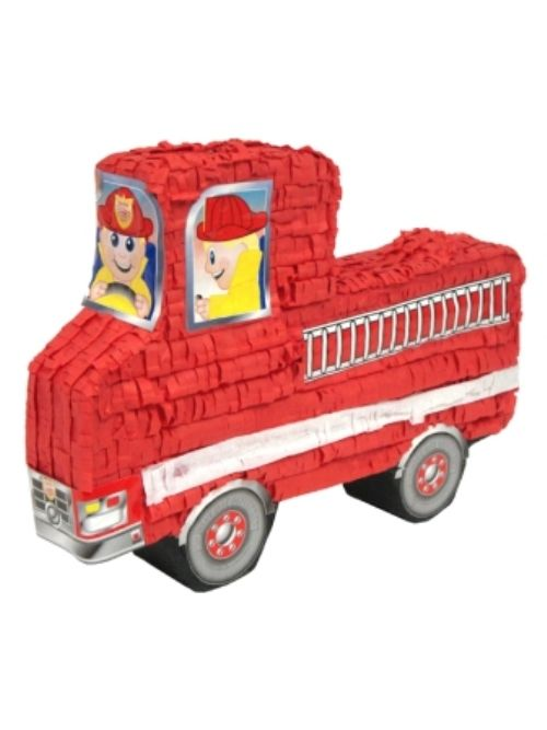 Pinata Fire Engine Red Firefighter Fireman Fire