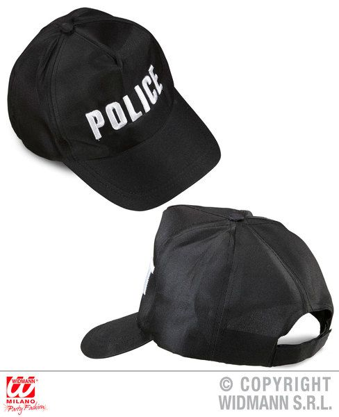 Police Cap Adjustable Hat Cop Detective Policeman Law Officer Fancy Dress