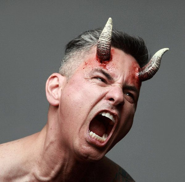 Prosthetic Horns Demoniak Devil Lucifer Satan Hen Beast