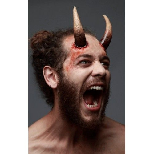 Prosthetic Horns Large Devil Lucifer Satan Hen Beast