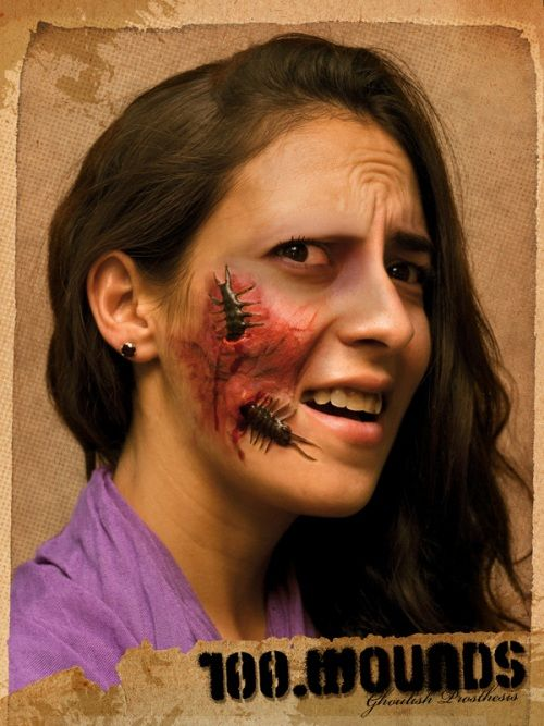 Prosthetic SFX Makeup Wounds 100 On Face Halloween