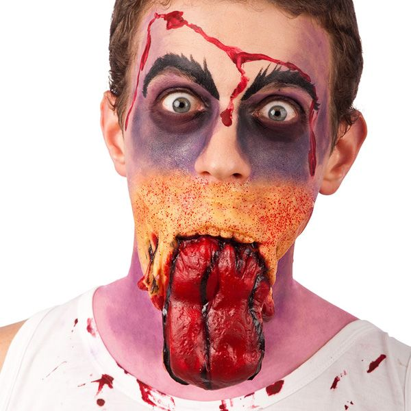 Prosthetic Wounds Scar & Tongue Prosthetic Makeup