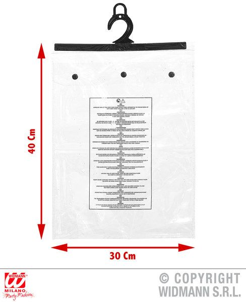 Pvc Snap Bags 30x40x2.5cm Retail Shop Clothes Display Fancy Dress
