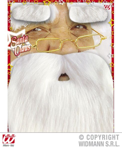 Santa Beard W/Tash And Eyebrows Christmas Festive Seasonal Holidays Fancy Dress