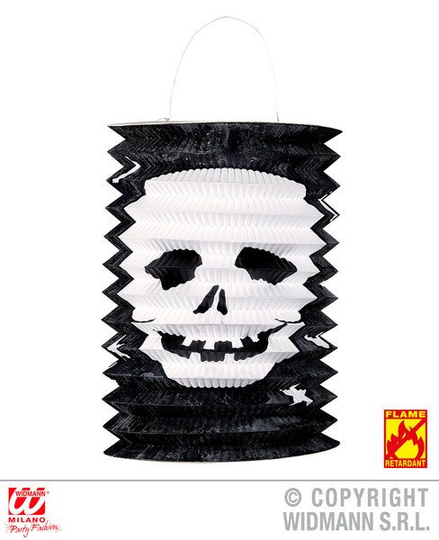 Skull Lantern Ø 16cm H 28cm Decoration Pirate Halloween Skeleton Head Party