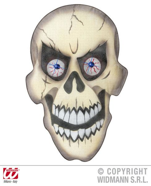 Skull Wall S 36X55cm Decoration Pirate Halloween Skeleton Head Party