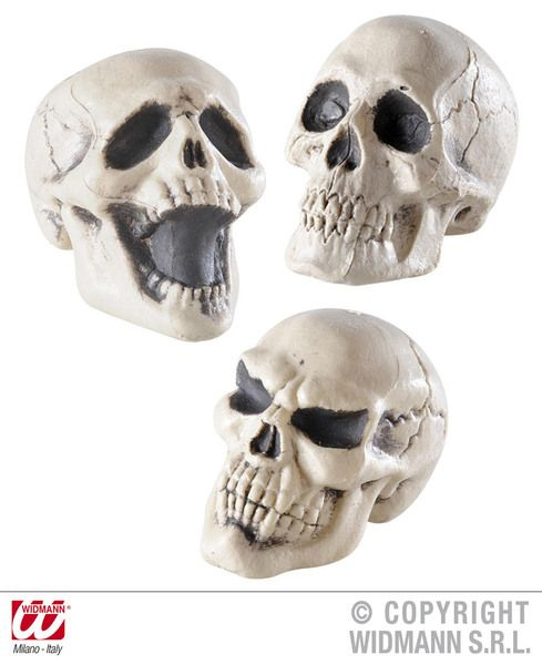 Skulls 12cm 3 Styles Halloween Pirate Party Decoration