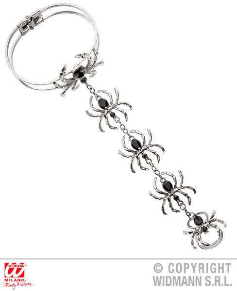 Spider Ring Bracelet Halloween Bug Trick Or Treat Fancy Dress Cosplay