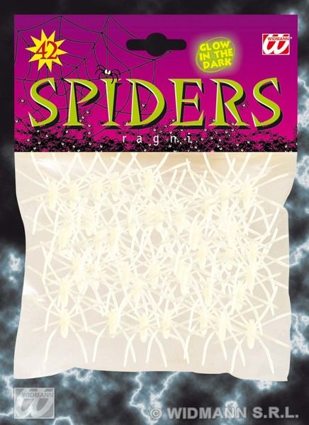 Spiders Glow In Dark Pvc Halloween Trick Or Treat Bugs Cosmetics