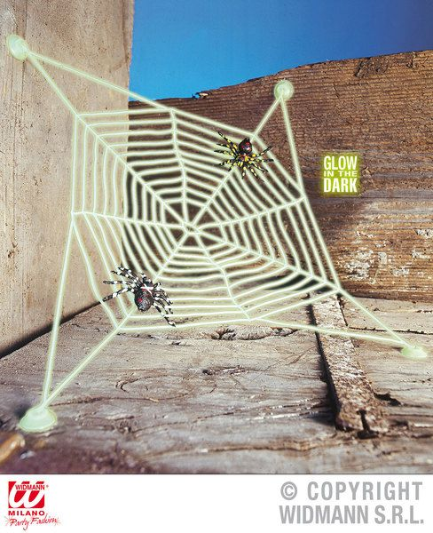 Spiderweb Gid W Suction Caps 30X30cm Decoration Halloween Trick Or Treat Spooky