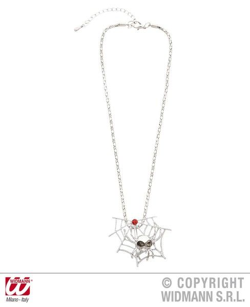 Spiderweb & Spider Necklaces Decoration Halloween Trick Or Treat Spooky Party