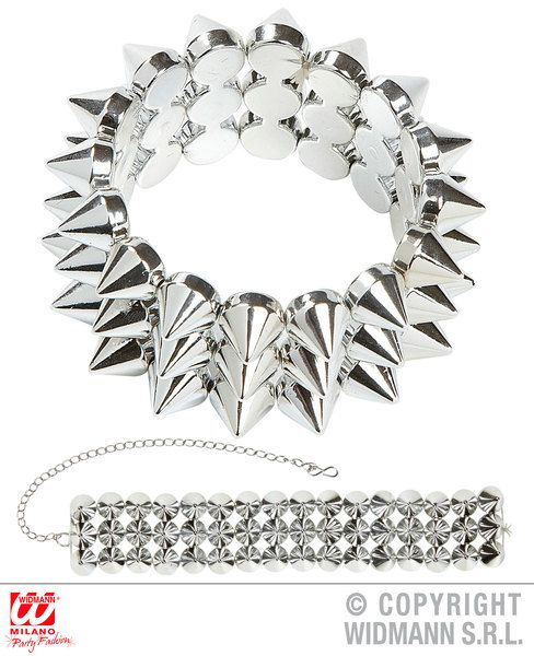 Spiked Choker & Bracelet Victorian Emo Goth Steampunk