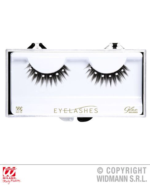 Spiked Eyelashes With Strass (Glass Glue Bottle) Cosmetics