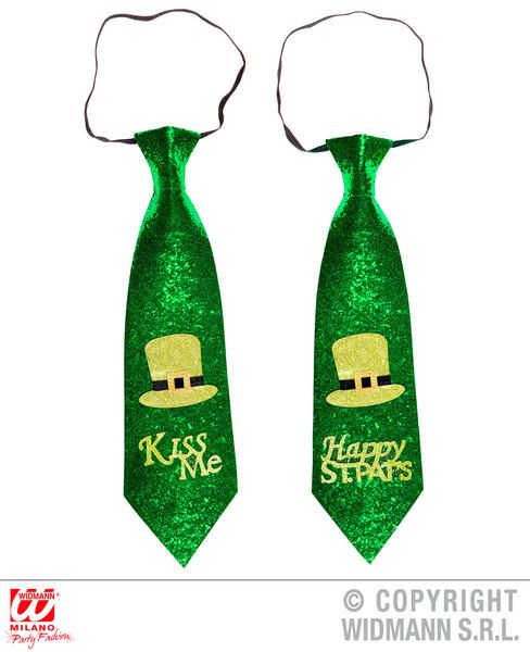 St. Patrick'S Day Glitter Tie 2 Styles Asstd St Patricks Irish Ireland Party