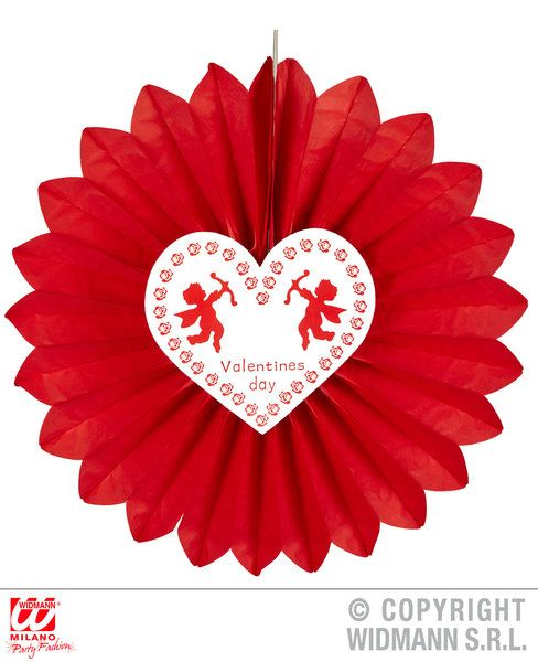 St. Valentine'S Day Paper Fan 61cm Saint Valentine'S Day Fancy Dress