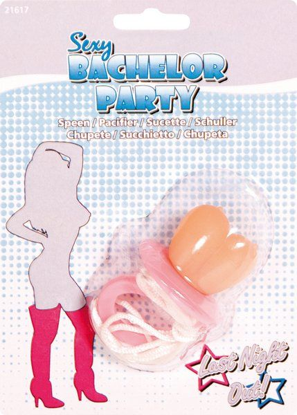 Stag Party Pacifier Pink Bachelor Night party