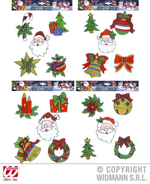 Stickers Window Set 5 Christmas Asstd Xmas Festive Seasonal Nativity Party