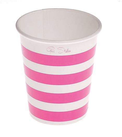 Stripe Birthday Party BBQ Disposable Cups Card 250cc Chef Food Outdoor Cook