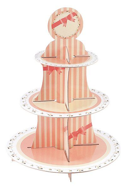 Sweet Hour Cake Stand 3 Tiers Round Wedding Anniversary Table Decoration