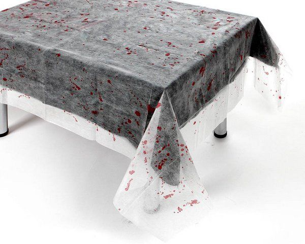 Tablecover Spiderweb with Blood Halloween Trick Or Treat Spooky