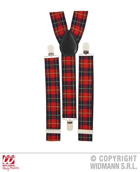 Tartan Braces Highland Scotland Scottish Irish Fancy Dress