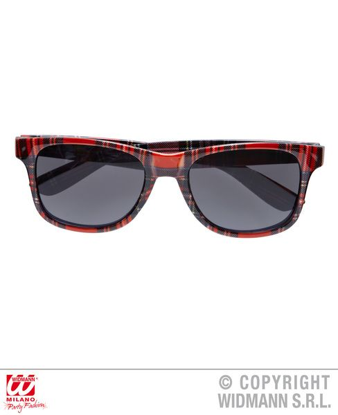 Tartan Red Glasses Highland Scotland Scottish Irish Fancy Dress