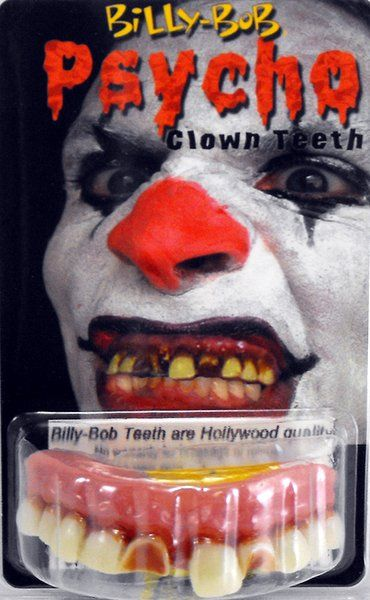 Teeth Billy Bob Psycho Clown Halloween Friday 13th