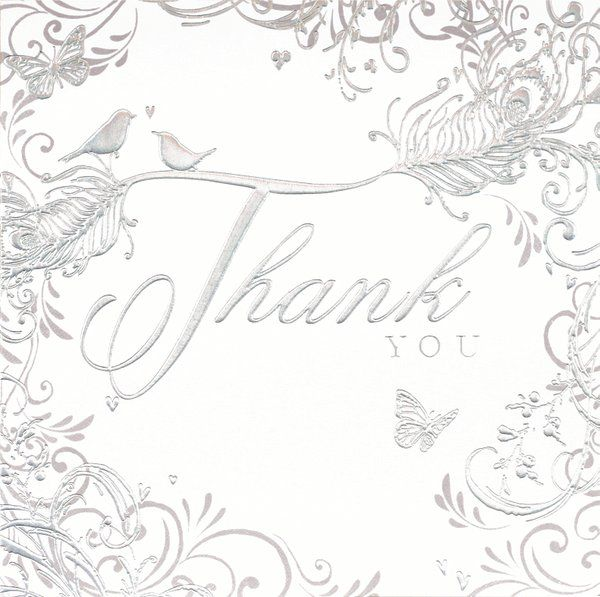 Thank You Wedding Foil 6 pk