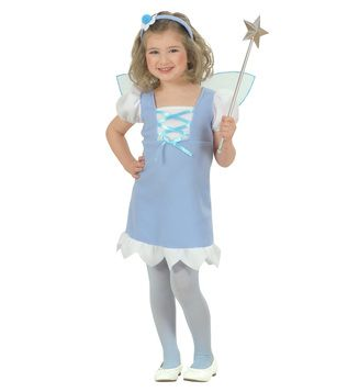 Toddlers Blue Pixie Costume Book Week Fancy Dress