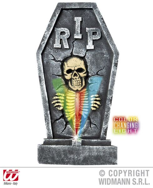 Tombstones Skeleton Cols Change Light Decoration Halloween Walking Dead Trick Or