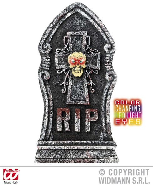 Tombstones Skull W Cols Change Light Eyes Animated Pirate Halloween Skeleton
