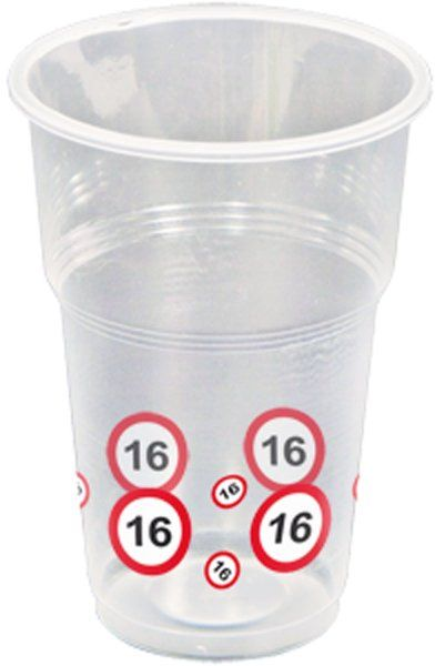 Traffic Sign 16th Party Cups 10s Birthday party Tableware Table Disposables