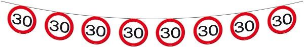 Traffic Sign 30th Party Banner 12M Birthday Decoration