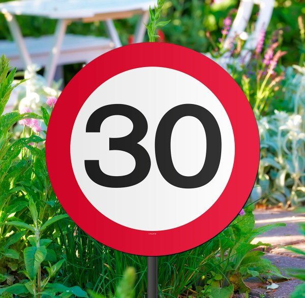 Traffic Sign 30th Party Garden Sign Birthday Decoration