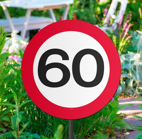 Traffic Sign 60th Party Garden Sign Birthday Decoration