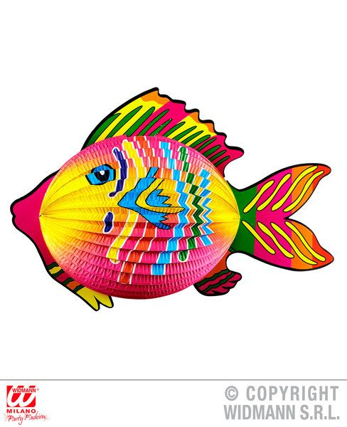 Tropical Fish Lampion 40cm Decoration Hawaiian Exotic Pool Party