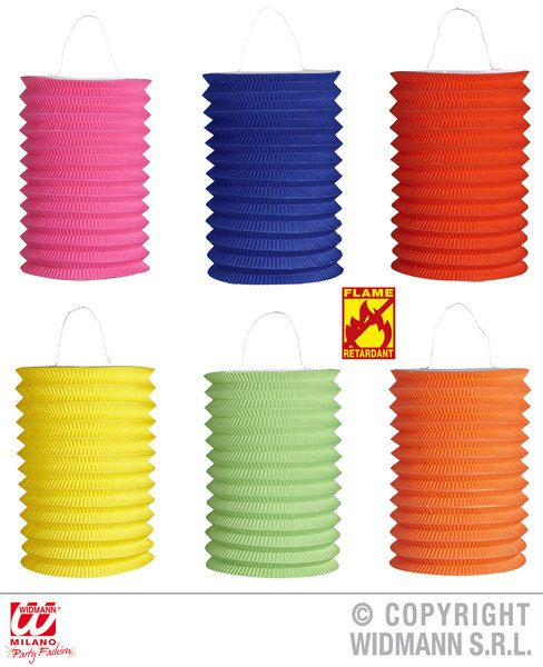 Unicolor Lantern Flame Retardant 28cm 6 Cols Ass Decoration Hawaiian Chinese