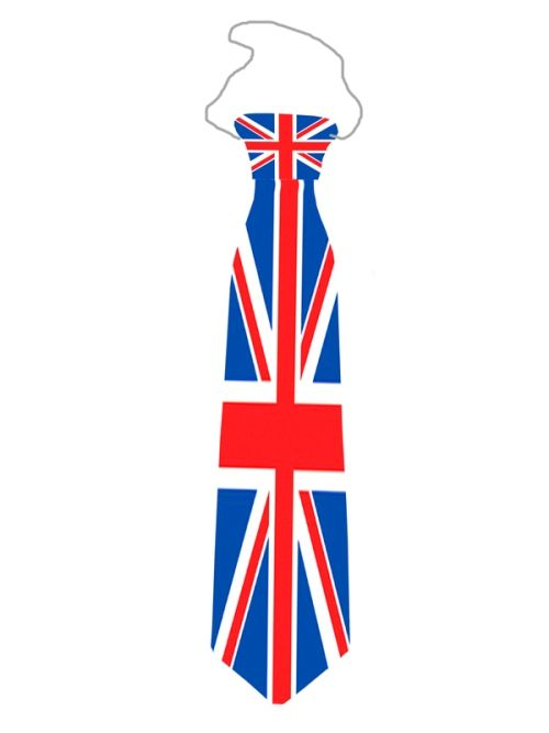 Union Jack Tie Plastic Printed With Elas Caribbean Pirate Captain