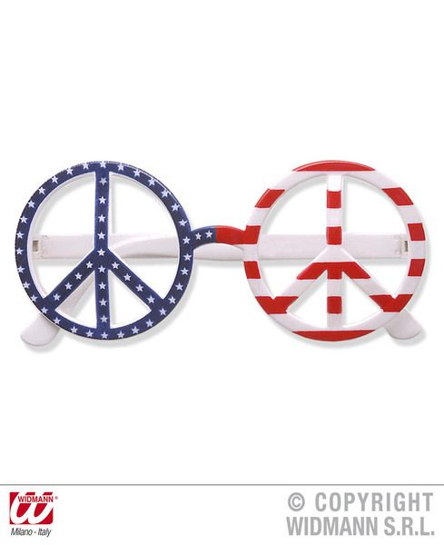 Usa Flag Love & Peace Glasses Decoration United States Of America Party