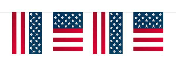 USA Party Bunting Flags 10M United States of America