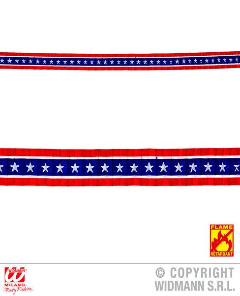 Usa Pleated Garland 3 M United States Of America Fancy Dress Party