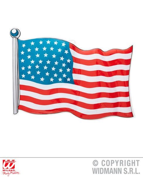 Usa Pvc Flag 62 x 44cm Decoration United States Of America Party