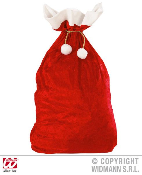Velvet Christmas Sacks 60cmx100cm Decoration Xmas Festive Nativity Party