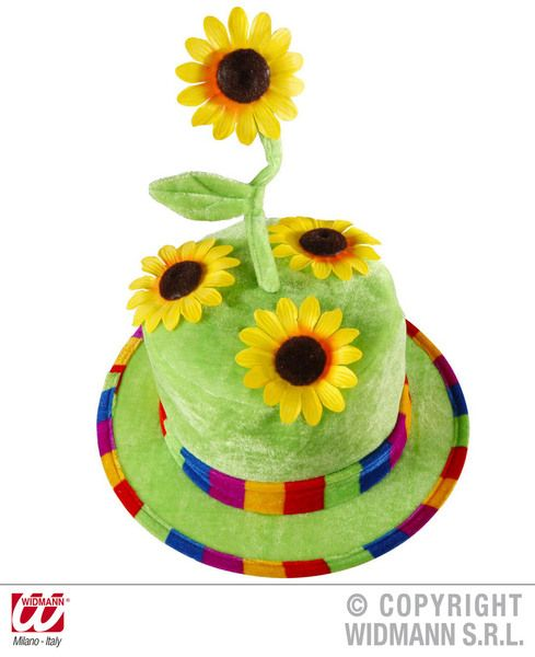 Velvet Easter Bonnet Sunflower Hat Victorian Maid Mop Hat Fancy Dress