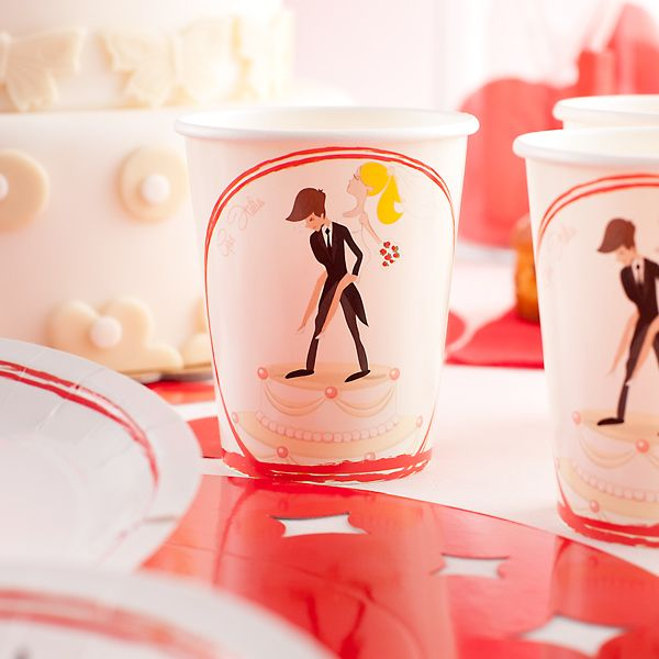 Wedding Humorous Cups Card 250cc 10s